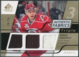 2008/09 Upper Deck SP Game Used Triple Authentic Fabrics Gold #3AFSS Sergei Samsonov /25