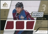 2008/09 Upper Deck SP Game Used Triple Authentic Fabrics Gold #3AFWW Wojtek Wolski /25