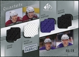 2008/09 Upper Deck SP Game Used Authentic Fabrics Quads #BKM Doan Mueller Kopitar Brown /10