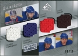 2008/09 Upper Deck SP Game Used Authentic Fabrics Quads #GNDL Lundqvist Naslund Gomez Drury /10