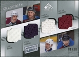 2008/09 Upper Deck SP Game Used Authentic Fabrics Quads #SHTS Sakic Smyth Tucker Hejduk /10