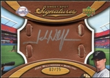 2007 Upper Deck Sweet Spot Signatures Glove Leather Silver Ink #JW Josh Willingham Autograph /25