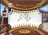 2007 Upper Deck Sweet Spot Signatures Gold Stitch Gold Ink #YG Chris B. Young /99