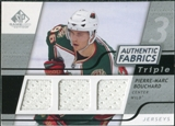 2008/09 Upper Deck SP Game Used Triple Authentic Fabrics #3AFBO Pierre-Marc Bouchard