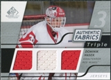 2008/09 Upper Deck SP Game Used Triple Authentic Fabrics #3AFDH Dominik Hasek