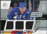 2008/09 Upper Deck SP Game Used Triple Authentic Fabrics #3AFLT Brian Leetch