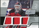 2008/09 Upper Deck SP Game Used Triple Authentic Fabrics #3AFMB Martin Brodeur