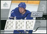 2008/09 Upper Deck SP Game Used Triple Authentic Fabrics #3AFMC Bryan McCabe