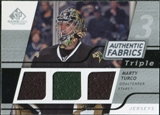 2008/09 Upper Deck SP Game Used Triple Authentic Fabrics #3AFMY Marty Turco
