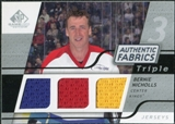 2008/09 Upper Deck SP Game Used Triple Authentic Fabrics #3AFNC Bernie Nicholls