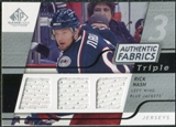2008/09 Upper Deck SP Game Used Triple Authentic Fabrics #3AFRN Rick Nash