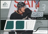 2008/09 Upper Deck SP Game Used Triple Authentic Fabrics #3AFTS Teemu Selanne
