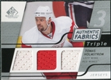2008/09 Upper Deck SP Game Used Triple Authentic Fabrics #3AFTU Tuomo Ruutu