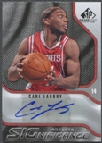 2009/10 SP Game Used #SCL Carl Landry SIGnificance Auto