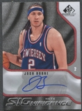 2009/10 SP Game Used #SBJ Josh Boone SIGnificance Auto