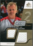 2008/09 Upper Deck SP Game Used Dual Authentic Fabrics Gold #AFBB Bob Bourne /50