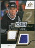 2008/09 Upper Deck SP Game Used Dual Authentic Fabrics Gold #AFBN Bernie Nicholls /50