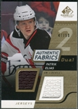 2008/09 Upper Deck SP Game Used Dual Authentic Fabrics Gold #AFEL Patrik Elias /50