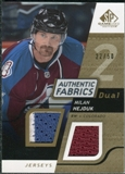 2008/09 Upper Deck SP Game Used Dual Authentic Fabrics Gold #AFMH Milan Hejduk /50