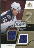2008/09 Upper Deck SP Game Used Dual Authentic Fabrics Gold #AFMP Michael Peca /50