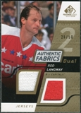 2008/09 Upper Deck SP Game Used Dual Authentic Fabrics Gold #AFRL Rod Langway /50