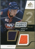 2008/09 Upper Deck SP Game Used Dual Authentic Fabrics Gold #AFST Miroslav Satan /50