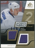 2008/09 Upper Deck SP Game Used Dual Authentic Fabrics Gold #AFSU Mats Sundin /50