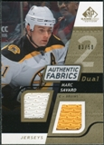 2008/09 Upper Deck SP Game Used Dual Authentic Fabrics Gold #AFSV Marc Savard /50