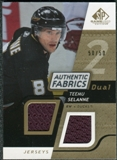 2008/09 Upper Deck SP Game Used Dual Authentic Fabrics Gold #AFTS Teemu Selanne /50