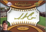 2007 Upper Deck Sweet Spot Signatures Gold Stitch Gold Ink #MC Matt Cain /99