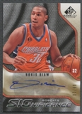 2009/10 SP Game Used #SBD Boris Diaw SIGnificance Gold Auto #09/10
