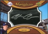 2007 Upper Deck Sweet Spot Signatures Black Bat Barrel Silver Ink #CC Chris Capuano /15