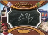 2007 Upper Deck Sweet Spot Signatures Black Bat Barrel Silver Ink #YG Chris B. Young Autograph /15