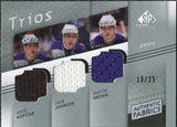 2008/09 Upper Deck SP Game Used Authentic Fabrics Trios #BKJ Anze Kopitar Jack Johnson Dustin Brown /25