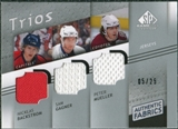 2008/09 Upper Deck SP Game Used Authentic Fabrics Trios #BMG Nicklas Backstrom Sam Gagner Peter Mueller /25