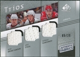 2008/09 Upper Deck SP Game Used Authentic Fabrics Trios #BSS Rod Brind'Amour Eric Staal Sergei Samsonov /25