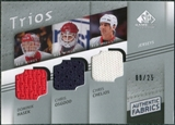 2008/09 Upper Deck SP Game Used Authentic Fabrics Trios #CHO Dominik Hasek Chris Osgood Chris Chelios /25