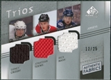 2008/09 Upper Deck SP Game Used Authentic Fabrics Trios #CTN Sidney Crosby Jonathan Toews Rick Nash /25