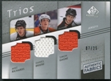 2008/09 Upper Deck SP Game Used Authentic Fabrics Trios #GBR Mike Richards Daniel Briere Simon Gagne 6/25