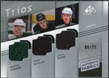 2008/09 Upper Deck SP Game Used Authentic Fabrics Trios #GGP Marian Gaborik Ryan Getzlaf Zach Parise /25