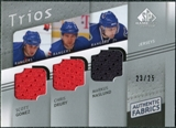 2008/09 Upper Deck SP Game Used Authentic Fabrics Trios #GND Scott Gomez Chris Drury Markus Naslund /25