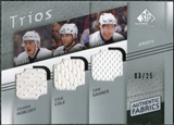 2008/09 Upper Deck SP Game Used Authentic Fabrics Trios #HCG Shawn Horcoff Erik Cole Sam Gagner /25