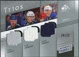 2008/09 Upper Deck SP Game Used Authentic Fabrics Trios #KBJ Paul Kariya Erik Johnson David Perron /25