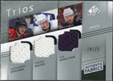 2008/09 Upper Deck SP Game Used Authentic Fabrics Trios #KOM Ovechkin Malkin Kovalchuk 24/25
