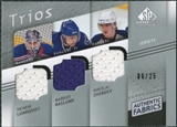 2008/09 Upper Deck SP Game Used Authentic Fabrics Trios #LNZ Lundqvist Naslund Zherdev /25