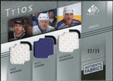 2008/09 Upper Deck SP Game Used Authentic Fabrics Trios #MSS Mike Modano Mats Sundin Brendan Shanahan /25