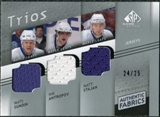2008/09 Upper Deck SP Game Used Authentic Fabrics Trios #SAS Mats Sundin Nik Antropov Matt Stajan /25
