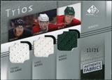 2008/09 Upper Deck SP Game Used Authentic Fabrics Trios #SKK Teemu Selanne Saku Koivu Mikko Koivu 11/25