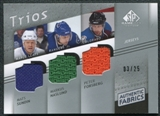 2008/09 Upper Deck SP Game Used Authentic Fabrics Trios #SNF Mats Sundin Markus Naslund Peter Forsberg 3/25