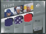 2008/09 Upper Deck SP Game Used Authentic Fabrics Trios #SNH Markus Naslund Mats Sundin Tomas Holmstrom 9/25